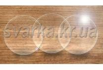 Стекло для очков прозрачное круглое