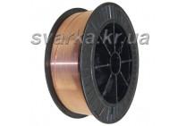 Проволока сварочная омедненная СВ08Г2С-О Ø 0.8 мм (катушка 15 кг)