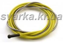 Спираль подающая желтая 2.5 / 4.5 / 340 мм для проволоки d 1.4 - 1.6 мм