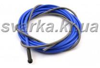 Спираль подающая синяя 1.5 / 4.5 / 340 мм для проволоки d 0.8 - 1.0 мм