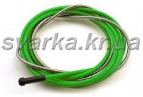 Спираль подающая зеленая 3.0 / 5.0 / 340 мм для проволоки d 2.0 - 2.4 мм