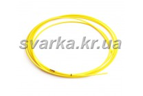 Подающий тефлоновый канал желтый 2.7 / 4.7 / пог.м для алюминиевой проволоки d 1.6 - 2.0 мм