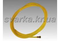 Тефлоновый канал желтый 2.7 / 4.7 / 350 мм для алюминиевой проволоки d 1.6 - 2.0 мм