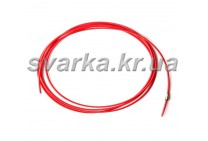 Подающий тефлоновый канал красный 2.0 / 4.0 / пог.м для алюминиевой проволоки d 1.0 - 1.4 мм
