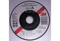 Круг зачистной гибкий 3M™ 125х3 мм Green Corps™ Cubitron™ Р36 по нержавейке