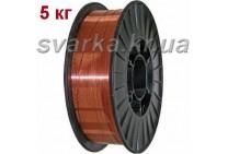 Проволока сварочная омедненная СВ08Г2С-О Ø 0.6 мм (катушка 5 кг)