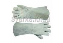 Перчатки сварочные замшевые (серые) длинные