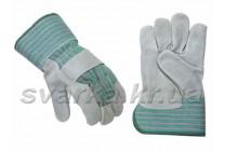 Перчатки комбинированные замшевые