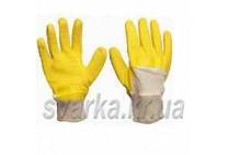 Перчатки Вампирки желтые (х/б вязаные)