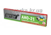 Электроды АНО-21 Ø 3 мм ПАТОН (пачка 5 кг)