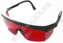 Очки защитные Комфорт красные с регулируемыми дужками