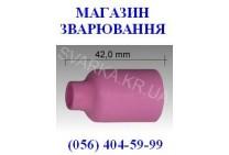 Керамическое сопло № 4 L=42.0 мм NW 6.5 мм для корпуса цанги с диффузором ABITIG / SRT 17 / 26 / 18