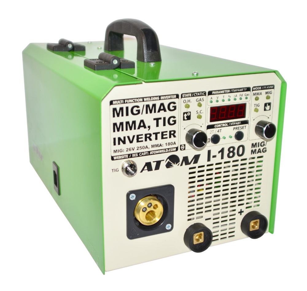 Сварочный инверторный полуавтомат Атом I-180 MIG/MAG
